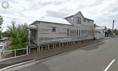 Painting a weatherboard
